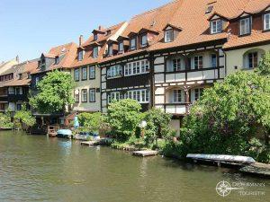 """Alte Fischerhäuser im """"Klein Venedig"""" von Bamberg"""