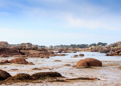 Eine Bucht an der Côte de Granit Rose/ Rosengranitküste