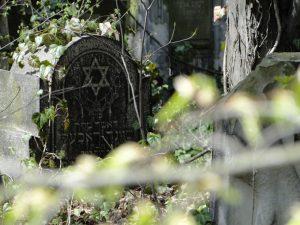 Grabmal auf dem Neuen Jüdischen Friedhof in Łódź
