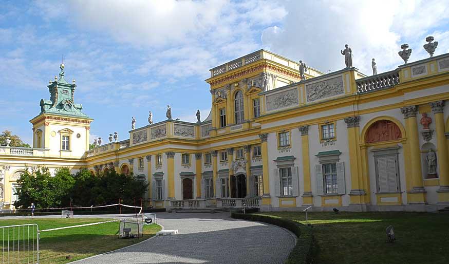 Der Sommerpalast von König Jan III. Sobieski in Wilanów aus dem 17. Jahrhundert.