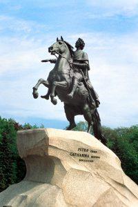 Der eherne Reiter auf dem Sankt Petersburger Senatsplatz