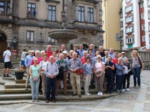 Die Reisegruppe aus Mitgliedern und Freunden der DPG Senden in Glatz